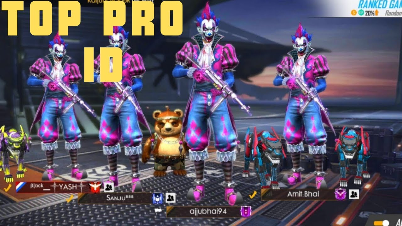 FREE FIRE TOP PRO ID !!!!!! 80% SKIN OPEN !!!