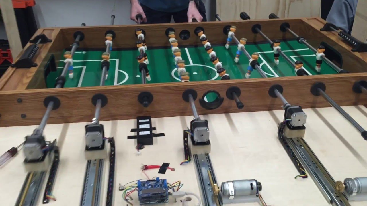 Automated Foosball Table Project YouTube - Wilson foosball table