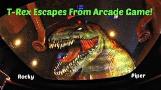 Jurassic Park Arcade Game 2 Player Closed Booth Style Gun Game At Dave & Buster's Ticket Arcade