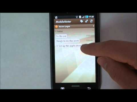 MobileNoter - your OneNote client for Android Video Tutorial