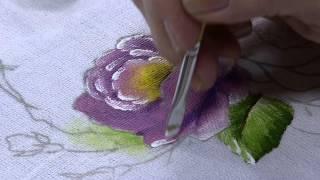 Pintura Tecido Rosa por Beth Matteelli – Parte 2