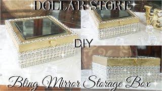 DIY DOLLAR STORE BLING STORAGE BOX | DIY DOLLAR TREE GLAM BOX | DIY GLAM ROOM DECOR