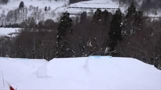 2015/01/22、進藤要くんが湯殿山スキー場でフリーランしているムービー...