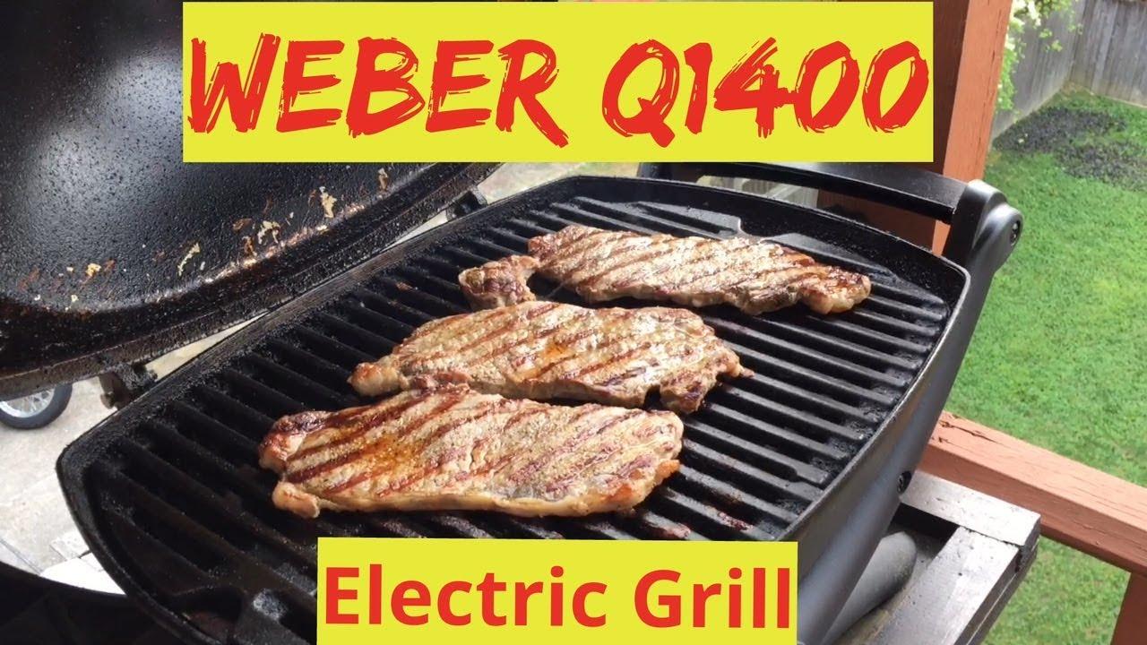 Weber Elektrogrill Q1400 Test : Weber q electric grill youtube