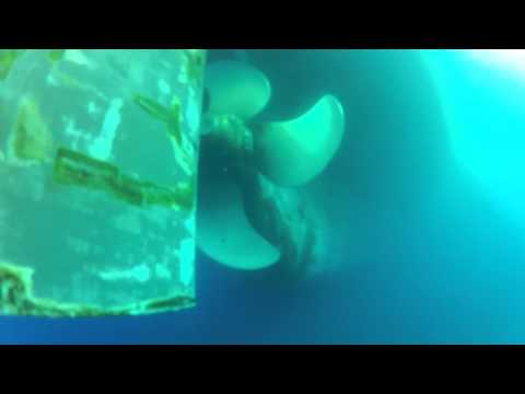 Under the Sea - Underwater view of Panamax tanker