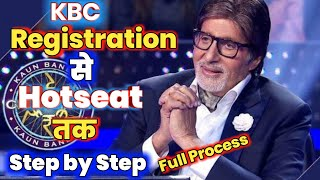 KBC Registration to Hotseat full process - Step by Step - How to register and be on Hotseat - Kbc