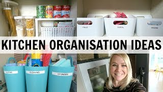 EASY KITCHEN ORGANISATION IDEAS!