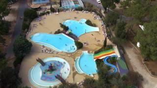 Visite aérienne du camping de la Côte d'Argent