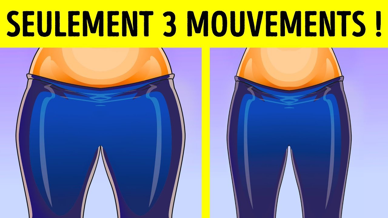 3 Exercices Simples Pour Affiner Les Cuisses - YouTube