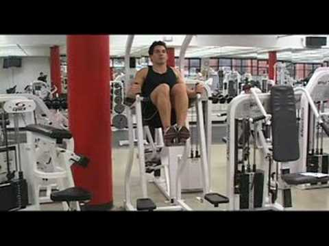 Weighted Knee Raise Vertical Knee Raise Chair Youtube
