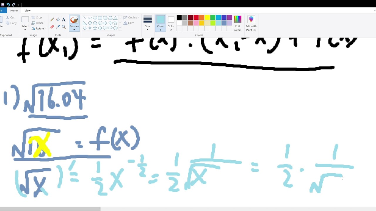 Newton's Theorem (for example solving sqrt(16.04) ) - YouTube
