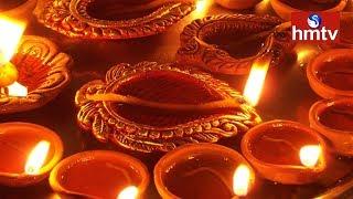 Diwali Celebration 2017 | Public Show Interest On Buying Sand Lamps In Hyderabad | hmtv