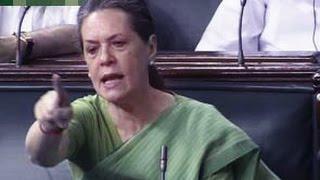 Soniya Gandhi red-faced , embarrassed when PM Modi humorously slams UPA on  MGNREGA
