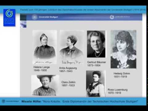 Nora Kräutle: Die erste Absolventin