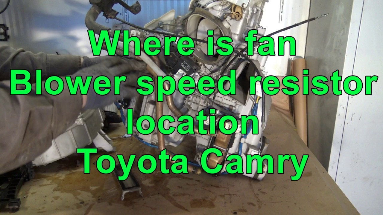 how works toyota camry heating and fan system [ 1280 x 720 Pixel ]
