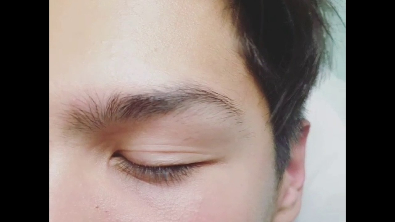 Mens Eyebrow Waxing Before And After Youtube