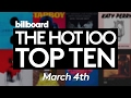 Billboard Hot 100 Top 10 March 4th 2017