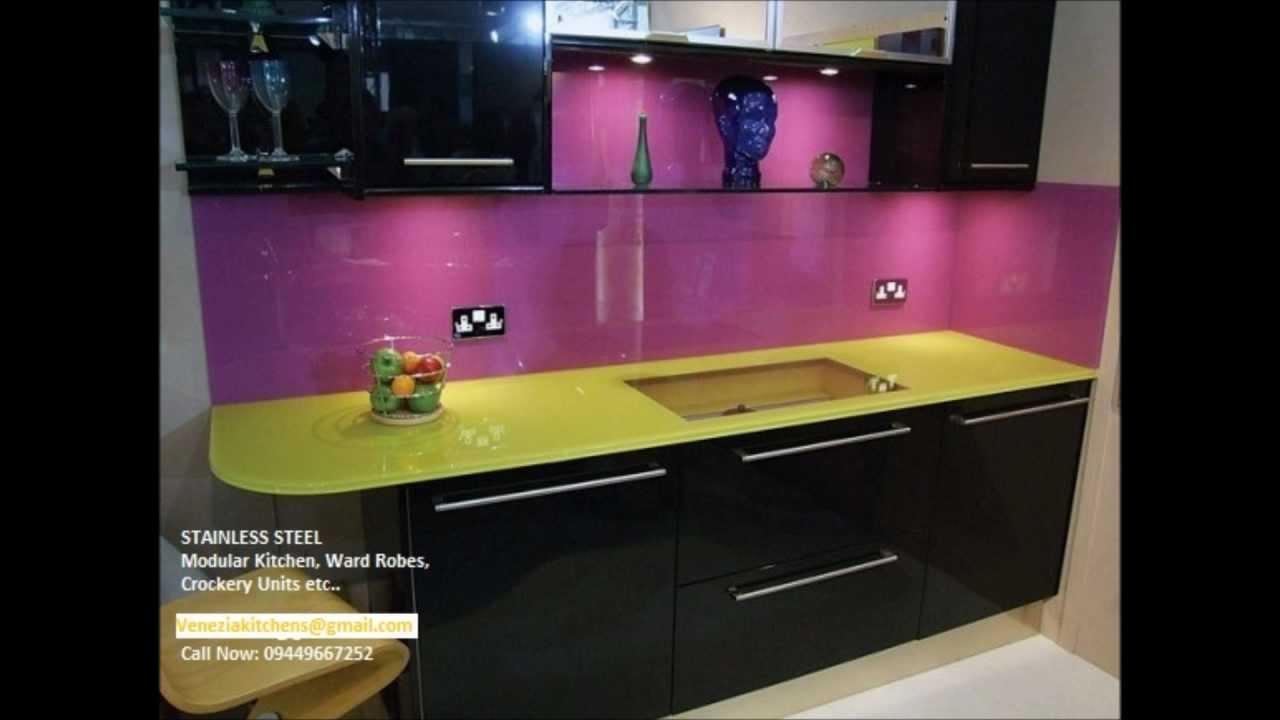 Acrylic Shutter Kitchens Vs Stainless Steel Finish Aluminium Modular Kitchen Call 09400490326