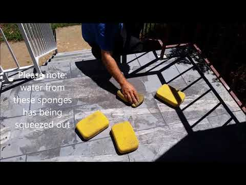 How To Grout Outdoor Tile Stairs - D.I.Y