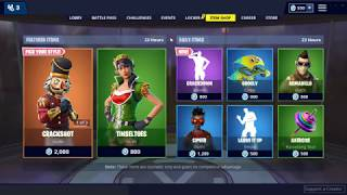 NEW CHRISTMAS SKIN! - Fortnite Item Shop 21st December 2018