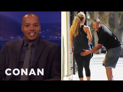 Donald Faison's Booty Grab Got Caught By The Paparazzi