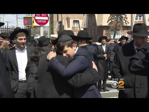 Mourners Fill The Streets in Far Rockaway for Newly Engaged Couple Elisheva Kaplan And Yisroel Levin