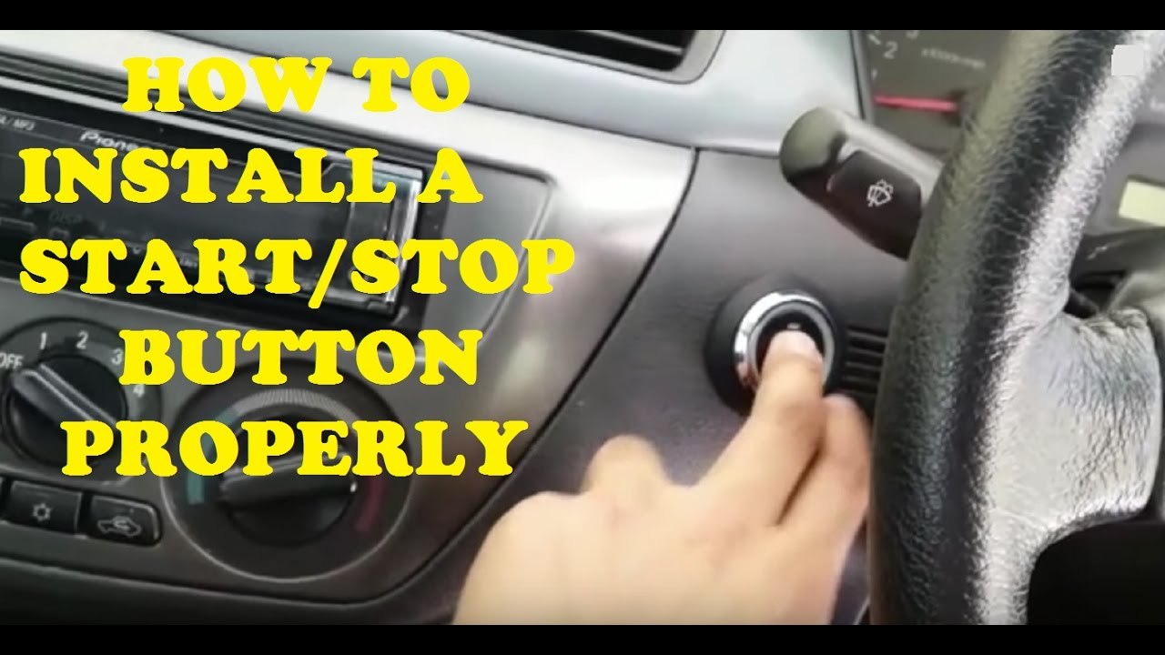 The Right Way To Install A Start Stop Button Youtube