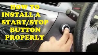 The Right Way To Install a Start/Stop Button