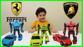 Robota Dönüşen Model Oyuncak Arabalar Oynadık | Çocuk Oyun Videoları