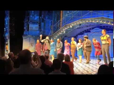 The cast of Amelie on Broadway takes their final bows, May 2