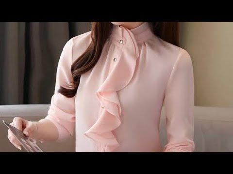 80 แบบเสื้อชีฟองน่ารัก ใส่ทำงาน/80 style chiffon blouses patterns/Fashion, Clothes, Outfits, Clothes