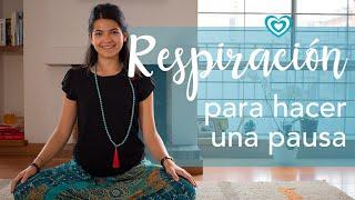 Respiración para hacer una pausa | Paloma & Caramelos