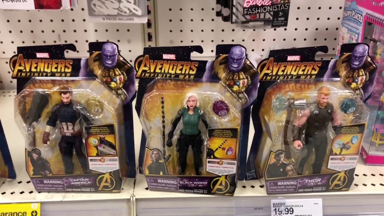 Avengers Infinity War Assortment W/ Gems Found At Target - YouTube