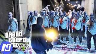 GTA 5 - Khi ngày tận thế biến người dân thành Zombie ( Zombie Mod ) | ND Gaming