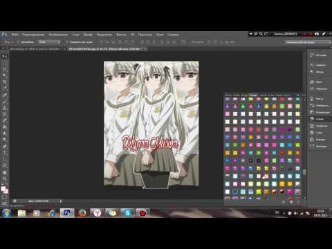 ||Как сделать аниме аватарку с размытым фоном в фотошопе PS CS6||