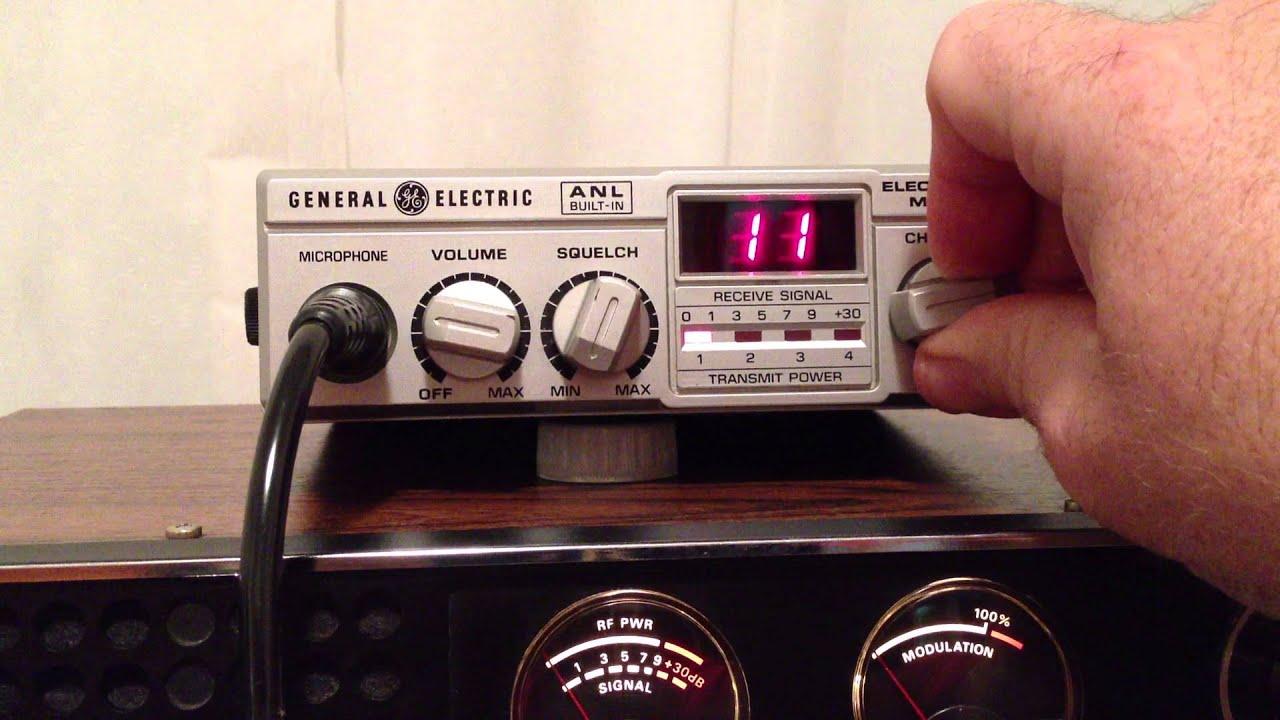 General Electric Model No 3 5805a 40ch Mobile Cb Radio