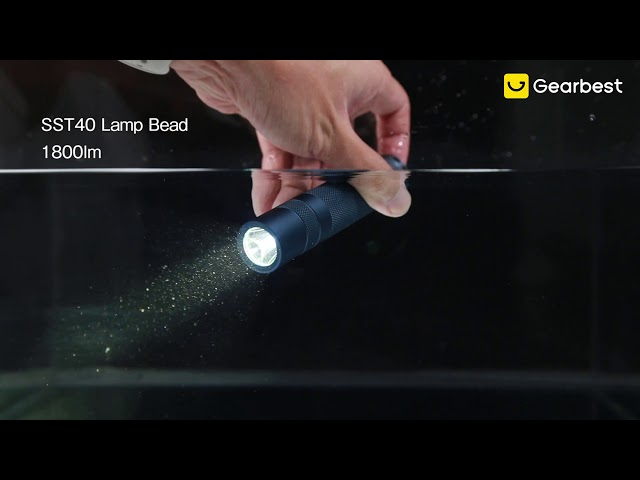 SST40 1800lm 5000K 6500K Temperature Protection Flashlight LED Gray Convoy S2