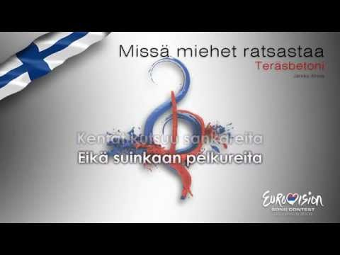 """Teräsbetoni - """"Missä Miehet Ratsastaa"""" (Finland) - [Karaoke version]"""