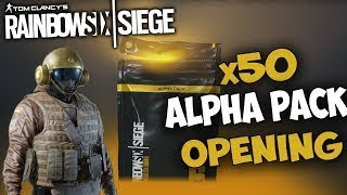 50 Alpha Pack Opening: Wind Bastion - Rainbow Six Siege
