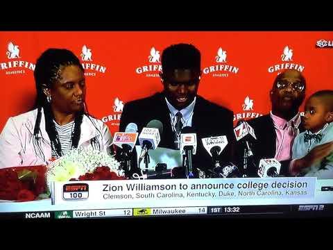 Zion Williamson Commits to Duke!! Crazy Reaction!!!!