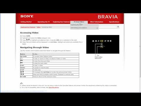 Sony BRAVIA LCD Online TV Manuals with Sony Reference Book