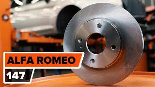 Cómo cambiar Pastilla de freno ALFA ROMEO 147 (937) - vídeo gratis en línea