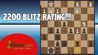 Road to 2200 Blitz Rating in Chess.com | Finally i am a 2200 player!!! #33