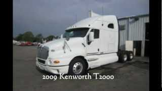2009 KENWORTH T2000 FOR SALE. CUMMINS ISX 400hp