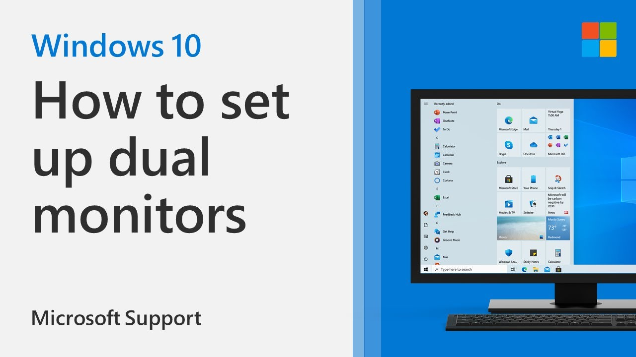 Monitors 10 2021 double set windows up how to 10 Best