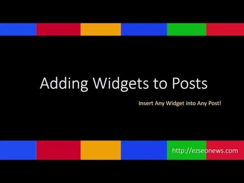 Insert a Widget into a Wordpress Post