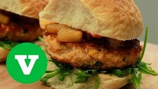 Salmon Burgers With Grilled Pineapple: Good Food Good Times S01E2/8