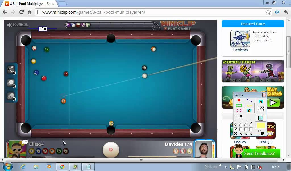 8 Ball Pool Multiplayer Gameplay (MB Ruler) - YouTube
