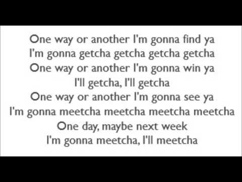 One Way Or Another - Blondie (Lyrics)