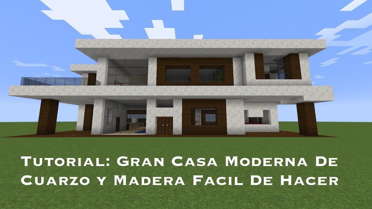 Tutorial gran casa moderna de cuarzo y madera facil de hacer pt5 youtube for Casas modernas para construir